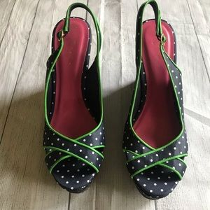 Lilly Pulitzer Picture Perfect Navy Polka Dot Heel
